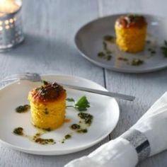 Warme wortelmousse met korianderboter | Smaakmakend