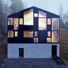 www.littlerugshop.com #HausHohlen in Dornbirn #Austria has these well-proportioned windows that maximize views of the Rhine Delta and Lake Constance. Design by architect #JolenSpecht \\ Photo by #AdolfBereuter by designmilk