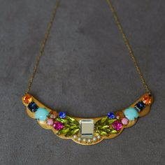 Vintage Collage Necklace -- one-of-a-kind