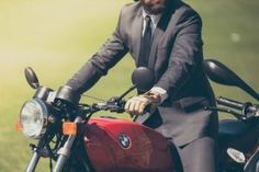 HD wallpaper: man in black formal suit riding red BMW standard motorcycle, adult Compro Moto, Harley Davidson Chopper, Bike Rider, Jack Wolfskin, Dress For Success, Look Cool, Motorbikes, Black Men, Blond