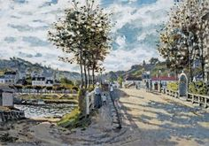 The Bridge at Bougival (1869)  Claude Monet