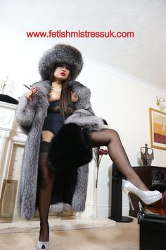 Silver Fox Fur's and Ultra Soft Black Fox Fur... For You Know What....  Welcome to My World...  www.fetishmistressuk.com  YouTube link... http://www.youtube.com/watch?v=epAOqTV-woQ