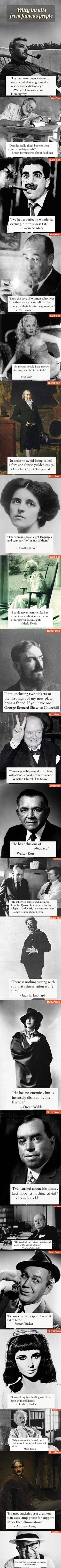 Witty insults from famous people.
