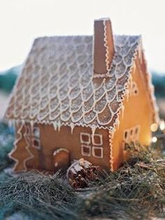 This recipe for Caramel Syrup is used to make our Swedish Gingerbread House, Gingerbread Facade, and Snow-Swept Gingerbread Cottage. Cool Gingerbread Houses, Gingerbread Dough, Christmas Gingerbread House, Christmas Cookies, Gingerbread Decorations, Christmas Treats, Christmas Baking, Gingerbread Cookies, Gingerbread House Template Printable