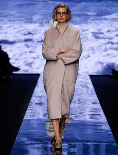 Wool and alpaca coat