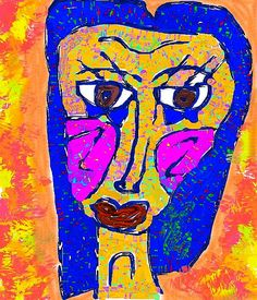 mod woman  donna kuhn Kimmy Cantrell, Pablo Picasso, Face Art, Digital Art, Illustration Art, Arts And Crafts, Artsy, Faces, Woman