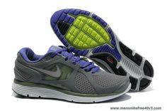 Mens 487983-005 Nike LunarEclipse 2 Cool Grey Reflective Silver-Pro Purple-Pro Purple Online