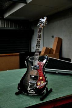 Handmade Mosrite-style guitar