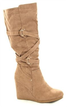 Deb Shops tall #wedge #boot $31.43