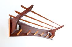 Exquisite two toned wooden Danish Design coat rack from the 1950s, $205 + $42 shipping