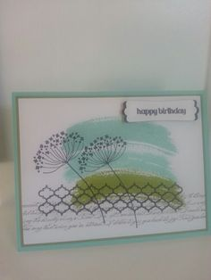 Stampin up work of art, summer silhoettes inspired. Made by JES