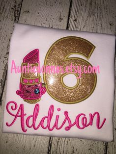 Lippy Lip lipstick queen Princess shop kins Shopkins birthday shirt applique  Glitter name age number by AuntieDonnas on Etsy https://www.etsy.com/listing/251379629/lippy-lip-lipstick-queen-princess-shop