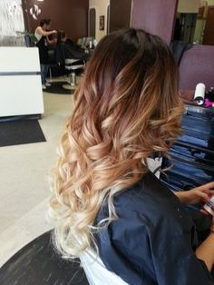 brunette hair with bleached layered tips - Google Search
