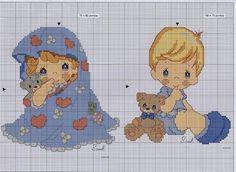 Punto de cruz Precious Moments bebé - Imagui