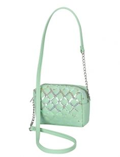Sequin Quilted Crossbody Bag