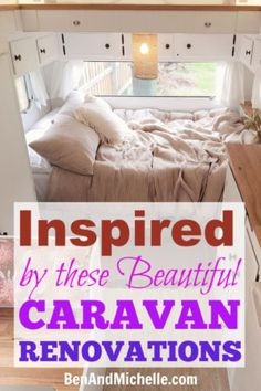 Are you doing your own DIY Caravan Renovation, and need some inspiration? These vintage caravans have had wonderful makeovers that make them a completely new caravan for travelling around Australia. Caravan Makeover, Caravan Renovation, Viscount Caravan, Diy Caravan, Teardrop Caravan, Vintage Caravans, Camper Conversion, Sprinter Van, Rv Living