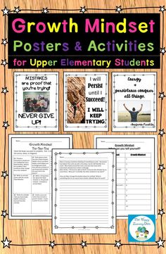 To support a growth mindset, students need real-world examples and activities that make sense to them. I use these posters and writing activities throughout the year to help my students. Click the picture to learn more! Teaching Activities, Teaching Resources, Spring Activities, Teaching Ideas, Teaching Literature, Growth Mindset Posters, Interactive Journals, First Year Teachers, Upper Elementary