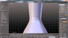 "Blender 3D NURBS : How to ""lathing""/""lofting""-model in Blender / HD"