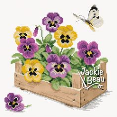 Free counted cross stitch patterns of beautiful designs! Butterfly Cross Stitch, Cross Stitch Heart, Cross Stitch Cards, Simple Cross Stitch, Cross Stitch Alphabet, Cross Stitch Flowers, Cross Stitching, Cross Stitch Embroidery, Easy Cross Stitch Patterns
