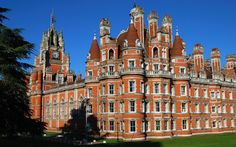Royal Holloway building in Surrey, part of the University of London.