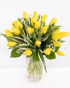 #lalele #tulips #springflowers #yellow #gift #surprise #flowerdelivery Flower Delivery, Spring Flowers, Magnolia, Tulips, Glass Vase, Yellow, Plants, Gifts, Decor