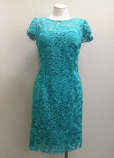 This lace dress would be a great Mother of the Bride dress for a Rustic Chic wedding!  Love the Jade color - so fresh! Jade Lace Dress - 547413905 #dressformotherofthebride #dressformotherofthegroom #motherofthebridedress #motherofthegroomdress #lace #dress #capsleeve #rustic #chic #wedding #tcarolyn