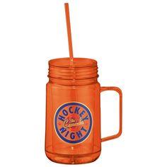 Promotional 24 oz Game Day Mason Jar #1623-75 #fall #orange #logo #gifts #promoproducts | Customized Plastic Mugs | Logo Plastic Mugs