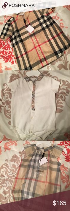 Burberry Shirts Onesie 3months Romper 6months (NWT) ButtonDown 3t(NWT) Burberry Shirts & Tops Button Down Shirts
