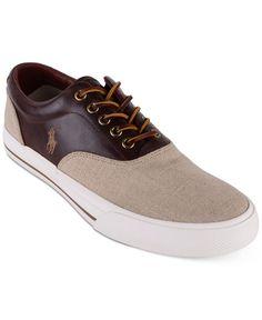 Polo Ralph Lauren Men's Vaughn Saddle Sneakers - All Men's Shoes - Men -  Macy's