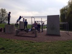 Havering parkour park, designed and built by Freemove.