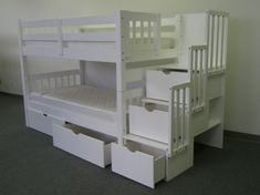 Need to start looking into bunk beds for the girls. I like the drawers and stairs on this one.