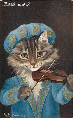 We could take your cat, dress it up Victorian and use it for art for your room.