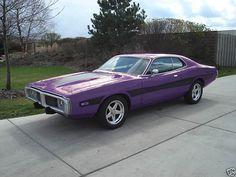 Plum Crazy 1973 Dodge Charger...lovin the plum