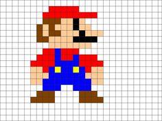 guide for mario hama beads Crochet Chart, Crochet Blanket Patterns, Grille Pixel Art, Mario, Star Wars Crochet, Pixel Art Grid, Pixel Pattern, Knitting Charts, 8 Bit