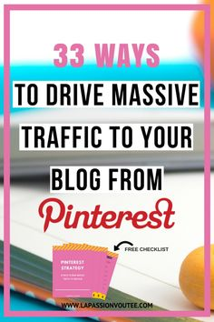 This guide shows you the exact strategy I use to get massive referral traffic from Pinterest every month and I created a handy checklist for you!