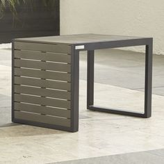 Shop Alfresco II Grey Side/C Table. This clever side table-stool combines the collection's fool-the eye look of real wood and fool-the-elements qualities with an ingenious multitasking design that converts from companion C-table to a lower-height side table, ottoman or extra seating.