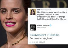 Emma Watson Told A Young Girl To Ignore Her Dad's Advice And Be An Engineer No joke Emma Watson is my cousin. She is like my bff. Faith In Humanity Restored, Intersectional Feminism, Equal Rights, Patriarchy, Emma Watson, Social Justice, Strong Women, Motivation, Equality