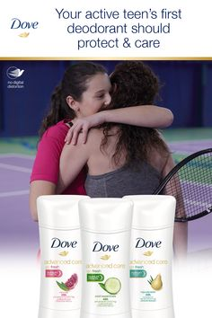 Your active daughter plays hard. Dove Advanced Care provides effective sweat & odor protection plus ¼ moisturizers for care you can count on. Dove Deodorant, Pampered Chef, Moisturizers, Care About You, Play Hard, Sport Girl, Good Advice, Plays, Count