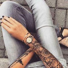 Top badass tattoos for girls 2019 – pop tattoo page 3 ~ thereds. Yoga Tattoos, Forearm Tattoos, Body Art Tattoos, Hand Tattoos, Tattoo Arm, Mandala Tattoo, Tribal Tattoos, Tattoo Moon, Snake Tattoo