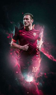 "Francesco Totti ""The Lord"" Best Football Players, Soccer Players, Totti Francesco, Football Wallpaper, As Roma, Manchester United, Celebrities, Mobiles, Soccer"