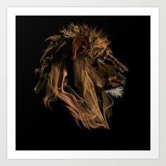 Where there's smoke there's fire! Lion Leo Art Print by Tylerfegley - $16.64 interacting tattoo idea