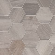 Porcelain Hexagon-8 inch,  Isla Wood Look Tile - White, $6/sf (missionstonetile.com - good source)
