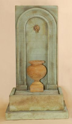 Etruria Urn Wall Fountain for Spout (Short Urn)  1472