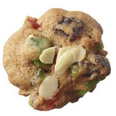 Enjoy the taste of holiday fruitcake in our two-bite Almond-cherry fruitcake cookies. Find hundreds Best Holiday Cookies, Holiday Cookie Recipes, Xmas Cookies, No Bake Cookies, Yummy Cookies, Holiday Foods, Christmas Desserts, Christmas Baking, Fruitcake Cookies