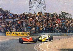 GP da França 1979 - circuito de Dijon Prenois. Gilles Villeneuve con Rene Arnoux