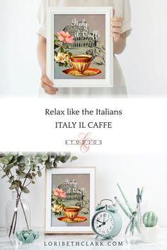 Coffee Sign Kitchen Decor Italy Wall Art Print Coffee Bar | Etsy Kitchen Signs, Kitchen Art, Kitchen Decor, Coffee Artwork, Coffee Wall Art, Art Prints For Sale, Wall Art Prints, European Cafe, Cafe Wall