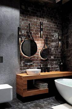 Creating a Comfortable Industrial Bathroom - Home Themes - If You . - Creating a Comfortable Industrial Bathroom – Home Themes – If you want an industrial bathroom, - Earthy Bathroom, Zen Bathroom, Bathroom Styling, Bathroom Ideas, Bathroom Goals, Gold Bathroom, Simple Bathroom, Bad Inspiration, Bathroom Inspiration