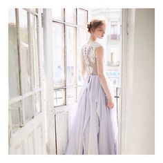 || Soft Romance || Beautiful bridal gown from @carouselfashionshop  www.etsy.com/uk/shop/CarouselFashion  #wedding #dress #weddingdress #bride #bridetobe #bespoke #beautiful #love #grey #lace #astw