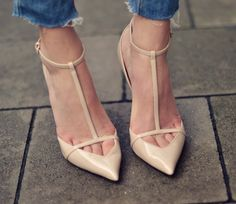 Zara pointy t-strap pumps -