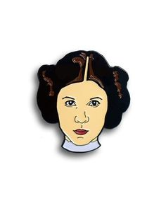 Carrie Fisher pin from @edgeofprint  Our Queen... Buy it through their link in bio! A portion of all proceeds from this sale will go to The International Bipolar Foundation.
